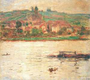 Vetheuil, Barge on the Seine