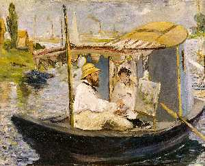 Monet in his Studio Boat
