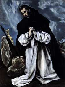 St. Dominic praying