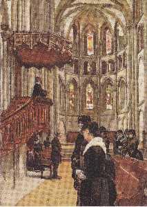 Prayer in the Saint Pierre Cathedral in Geneva