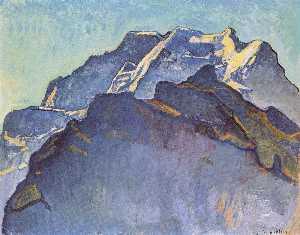 Jungfrau massif and Schwarzmonch