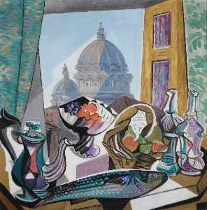 Still Life with the Dome of St. Peter's