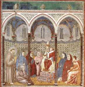 Cattedrale di st . Francesco Predicazione un Sermone Papa onorio iii