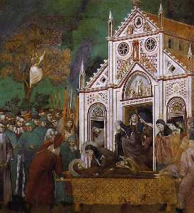 St. Francis Mourned by St. Clare