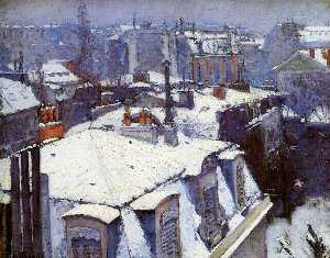 View of Roofs (Snow Effect) or Roofs under Snow