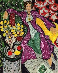 Woman in a Purple Coat