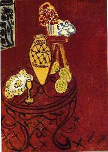 Interior in Venetian Red