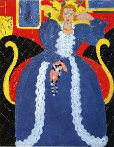 Woman in Blue, or The Large Blue Robe and Mimosas