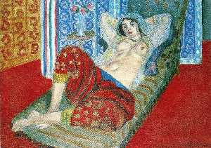 Odalisque in Red Culottes