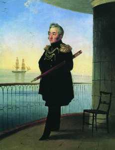 Portrait of Vice Admiral M.P. Lazarev