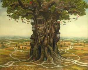 Enhabited oak