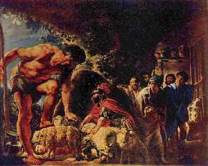 Odiseo en la cueva de Polifemo