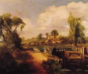 Landscape: Boys Fishing