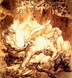 Silen, Satyr and Bacchanals