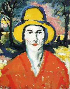 Portrait of Woman in Yellow Hat