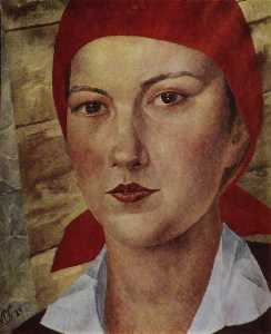 Girl in red scarf (worker)