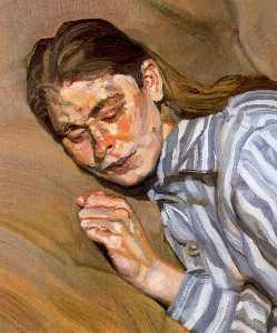 Girl in Striped Nightshirt