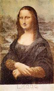L.H.O.O.Q, Mona Lisa with moustache