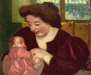 Maternite, Anne Marie et Marthe a la Bague Ovale