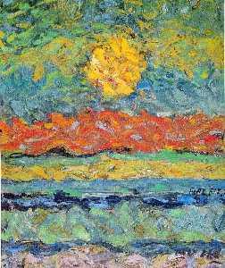 Landscape with Sun