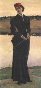 Portrait of Olga Nesterova (Woman in a Riding Habit)