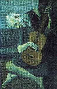 The old blind guitarist
