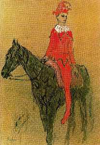Harlequin on the horseback