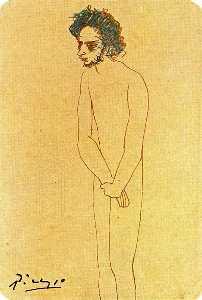 Portrait of nude Casagemas