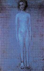 Standing young nude