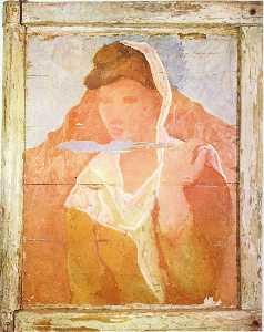 Fernande with shawl