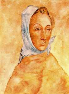 Portrait of Fernande Olivier in headscarves