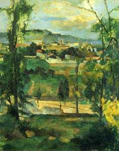 Village behind Trees