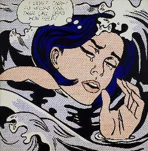 Drowning girl