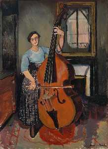 Woman with a Double Bass