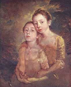 Portrait of the artist's daughter with a cat
