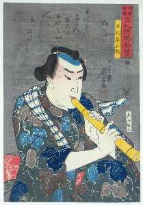 Shakuhachi player