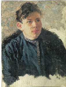 Portrait of young Leonid Chernyshev