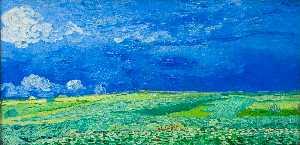 Wheatfields under Thunderclouds