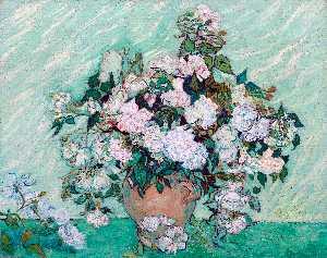 Still Life Vase with Roses