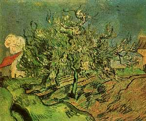 Landscape with Three Trees and a House