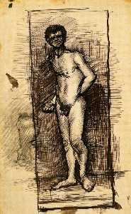 Standing Male Nude Seen from the Front