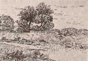 Landscape with the Wall of a Farm