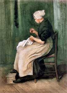 Scheveningen Woman Sewing