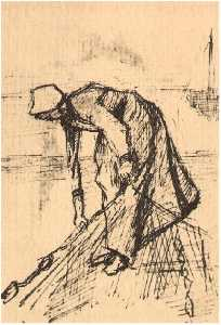 Stooping Woman with Net