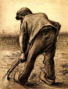 Digger in a Potato Field: February