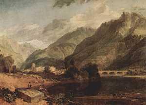 Bonneville, Savoy with Mont Blanc