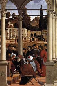 Disputation of St Stephen (detail)