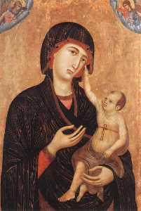 madonna con bambino e due angeli ( crevole madonna )