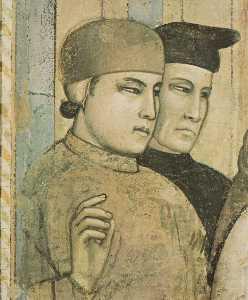 Scene da vita di san francesco : 4 . morte e ascensione di san francesco ( particolare )