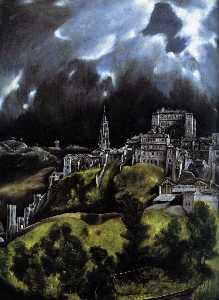 A View of Toledo (detail)